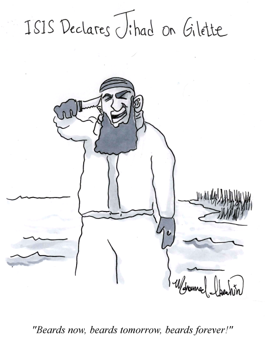 isis on beards and gilette