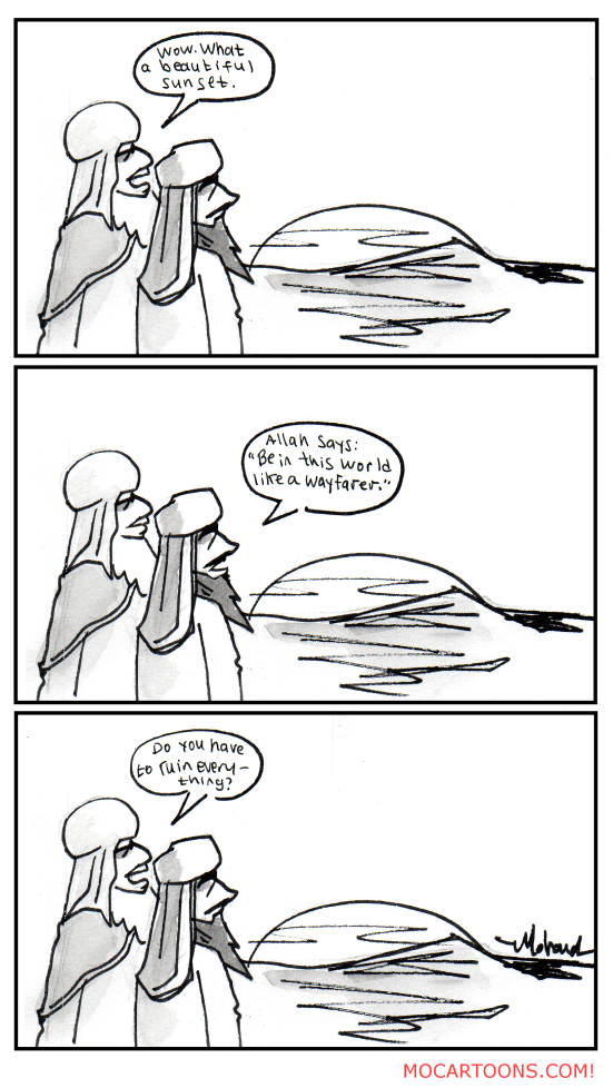 Omar and Muhammad watch a sunset.png